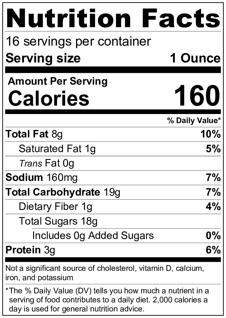 Smooth Brittle Nutrition Info